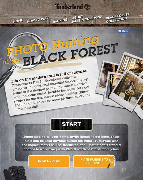 Photo Hunting in the BLACK FOREST at Timberland Malaysia