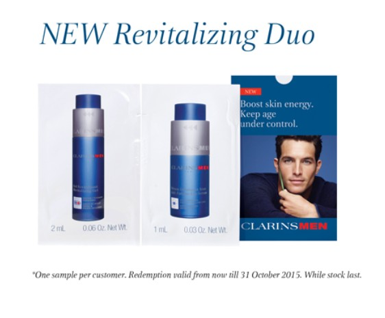 Register to receive an Anti-Fatigue Eye Serum & Revitalizing Gel kit at CLARINSMEN Malaysia