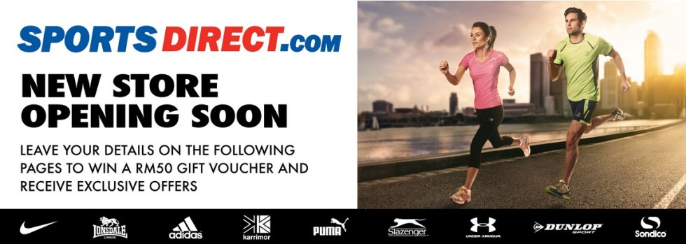 Sportsdirect.com New Store Opening! – Mid Valley Megamall