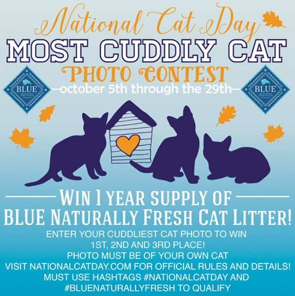 WIN 1 year's supply of BLUE Naturally Fresh Cat Litter