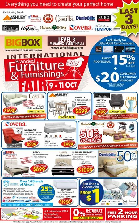 WIN $500 Furniture Voucher at BIGBOX International Branded Furniture & Furnishings Fair