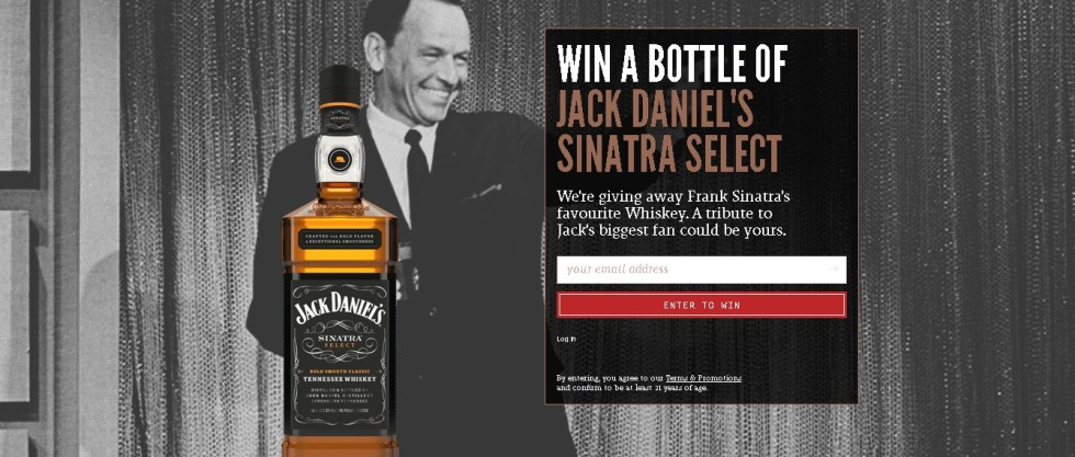 WIN A BOTTLE OF JACK DANIEL'S SINATRA SELECT AT FLAVIAR