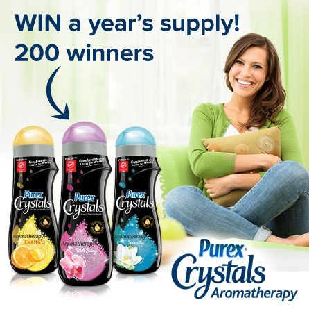 WIN a year's supply of Purex® Crystals Aromatherapy™