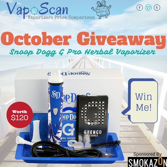 Win a Snoop Dogg G Pro Herbal Vaporizer