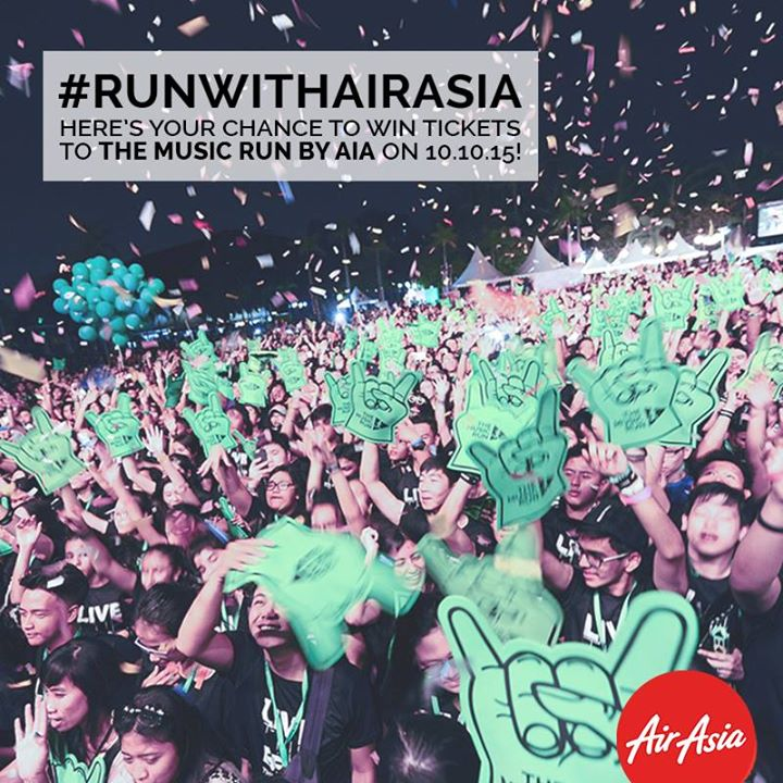 Win a pair of tickets to The Music Run by AIA at AirAsia Malaysia
