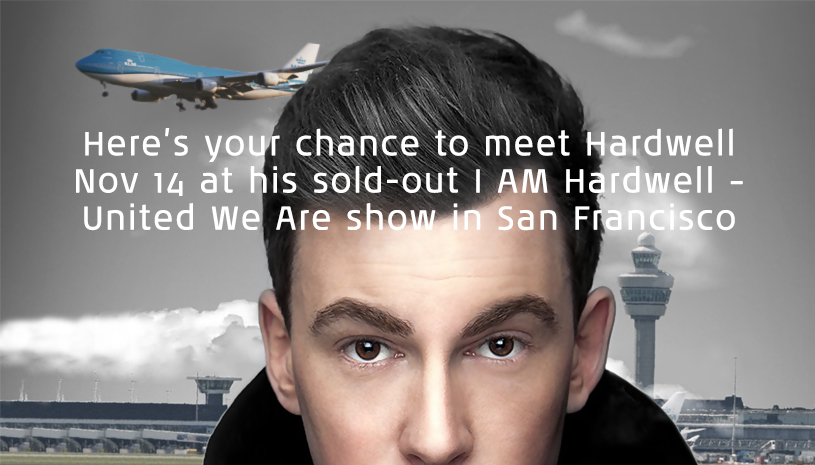 Win tickets to Hardwell's November 14th show in San Francisco at KLM USA