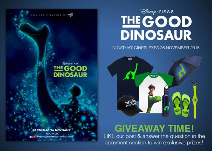 Disney Pixar The Good Dinosaur Giveaway Time at Cathay Cineplexes Sdn Bhd