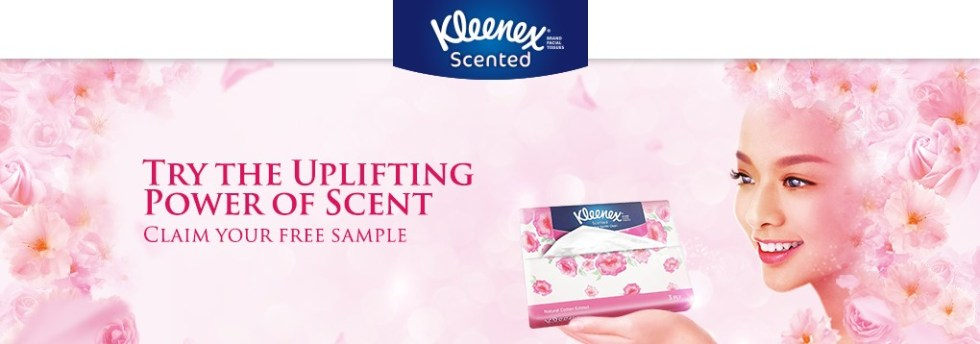 FREE Kleenex Scented Facial Tissues Sample