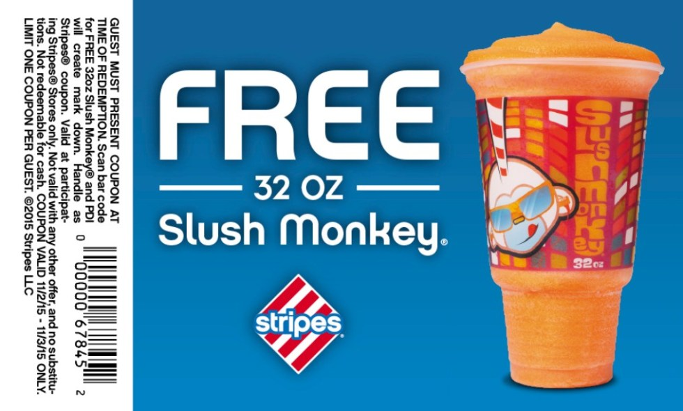 Free 32 Oz of Slush Money at Stripes