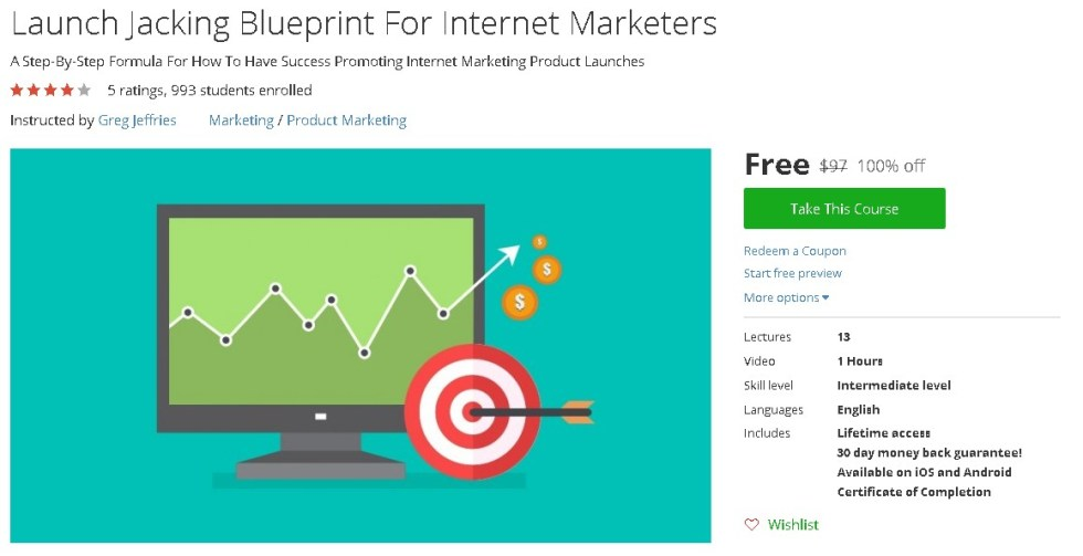 Free Udemy Course on Launch Jacking Blueprint For Internet Marketers