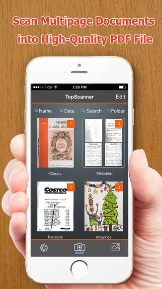 Free iOS Business App TopScanner  easily scan multipage documents into high-quality PDFs By Shenzhen Socusoft Co., Ltd