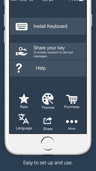 Free iOS Utilities App Secure Text Keyboard PRO - Encrypt your private messages from any app By Nuova Labs