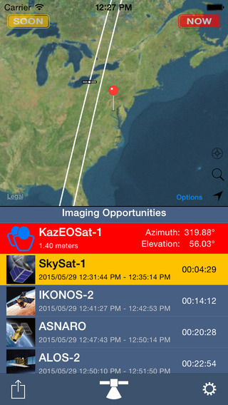 Free iOS Utilities App SpyMeSat By Orbit Logic