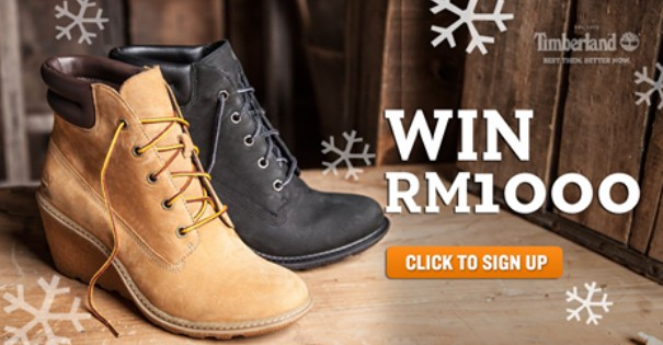 WIN RM1,000 for Christmas when you sign up as a Friend at Timberland Malaysia