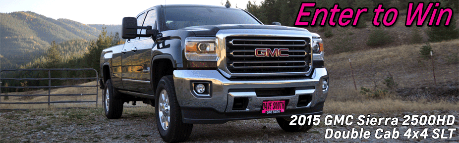 Enter Dave Smith Motors' GMC Sierra 2500 Truck Giveaway and you could win a truck worth nearly $50,000