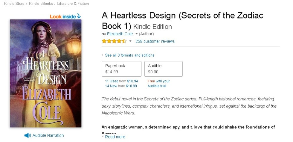 FREE A Heartless Design (Secrets of the Zodiac Book 1) Kindle Edition