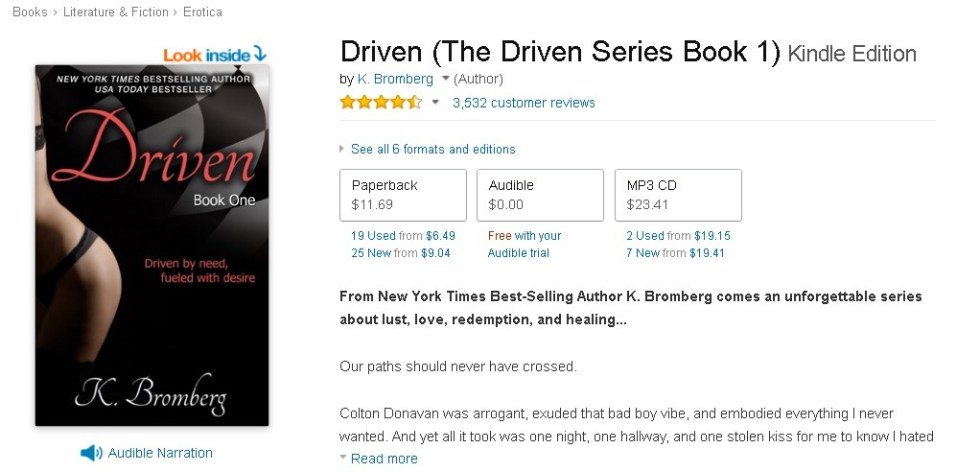 FREE Driven (The Driven Series Book 1) Kindle Edition