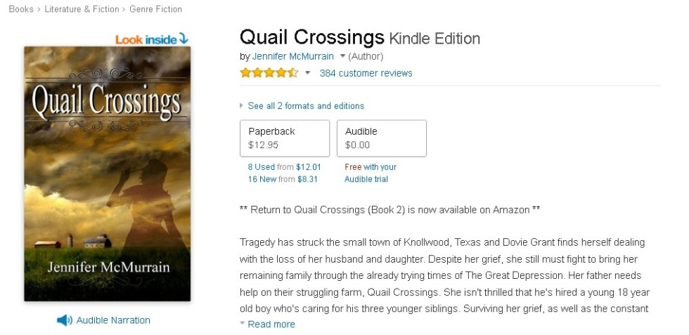 FREE Quail Crossings Kindle Edition