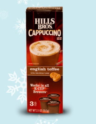 FREE sample of single-serve cappuccino at Hills Bros. Cappuccino