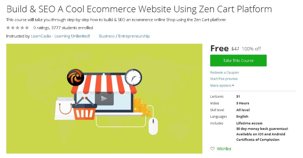 Free Udemy Course on Build & SEO A Cool Ecommerce Website Using Zen Cart Platform (2)
