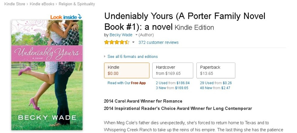 Free Undeniably Yours (A Porter Family Novel Book #1) a novel Kindle Edition