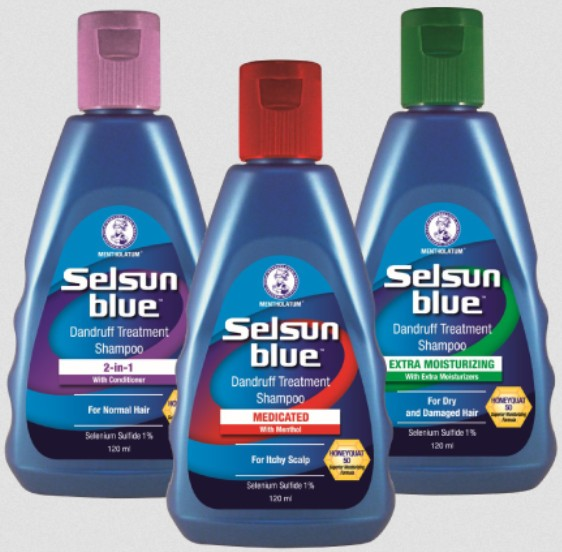 Get your FREE Selsun blue dandruff treatment shampoo sample