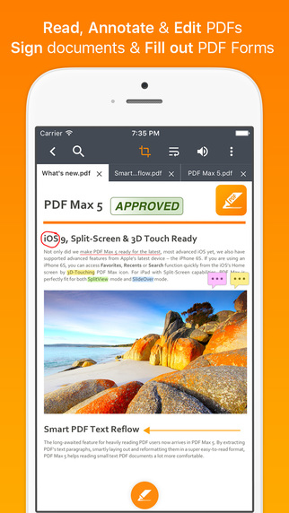 PDF Max 5 Pro - Read, Annotate, Sign, Fill out Forms & Edit PDFs