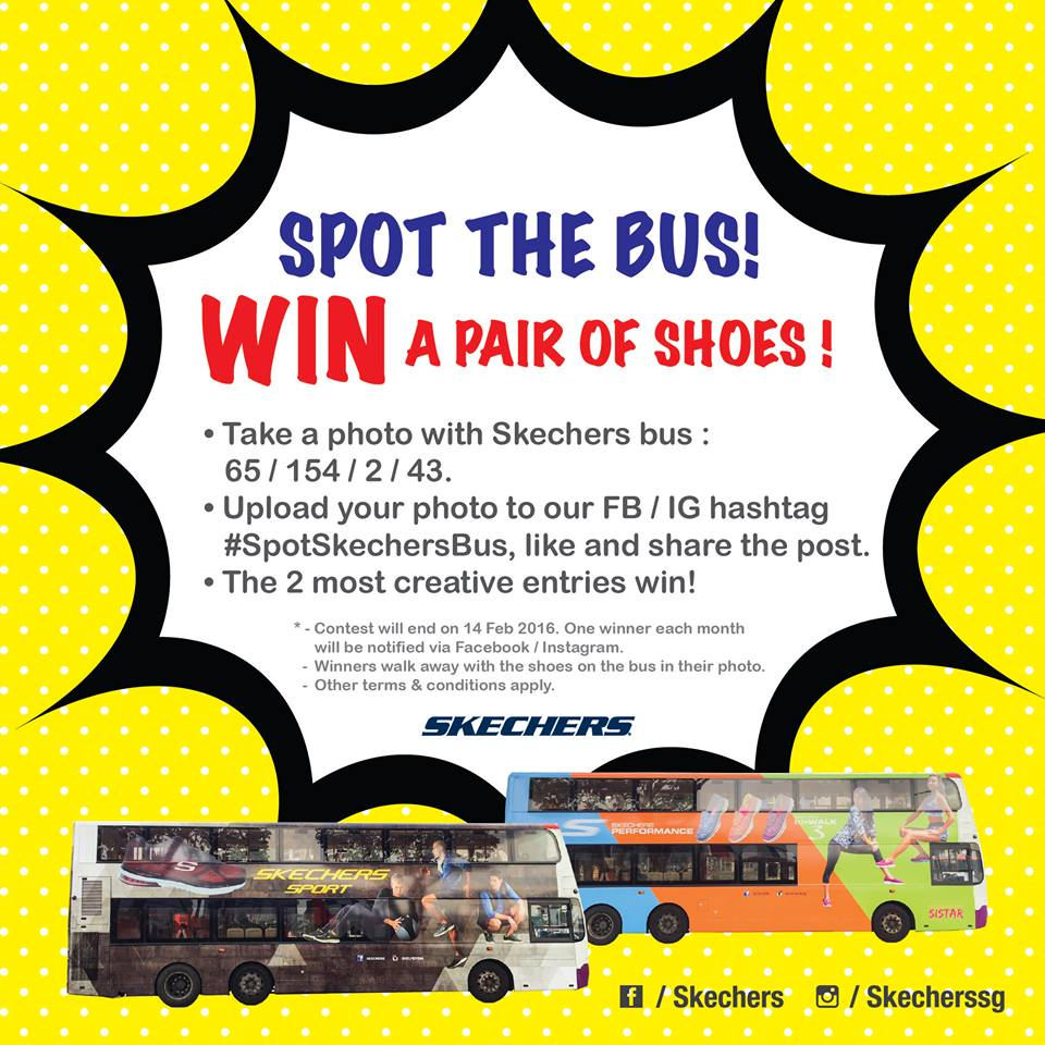 Spot Skechers bus and win a pair of shoes worth $105 & more!