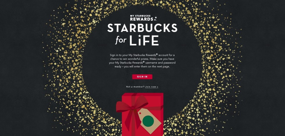 Starbucks for Life @ My Starbucks Rewards