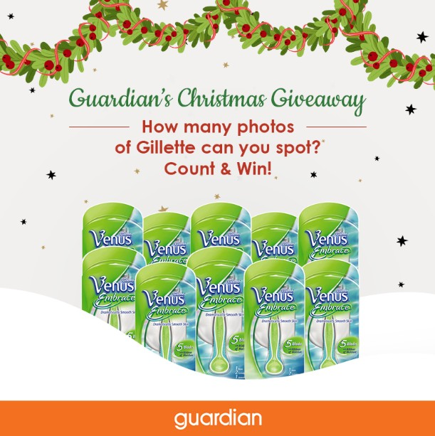 WIN Gillette Venus Embrace Female Razor at Guardian Health & Beauty