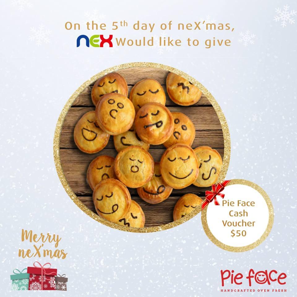 WIN a $50 Pie Face Singapore cash voucher at nex Singapore