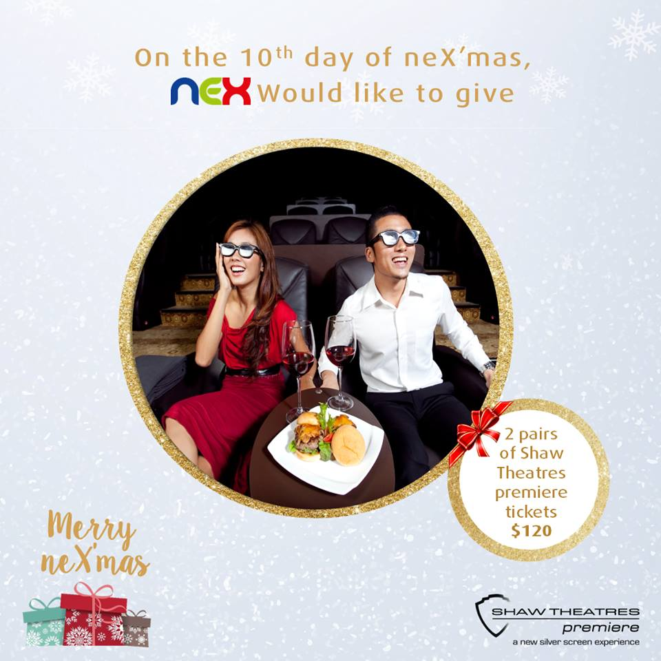 Win  2 pairs of Shaw Theatres premiere tickets at nex Singapore