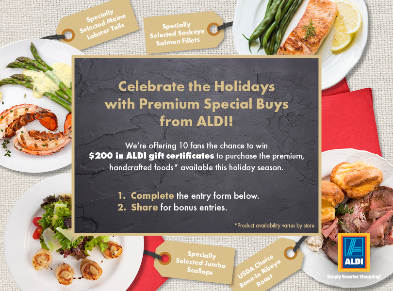Win $200 in ALDI gift certificates