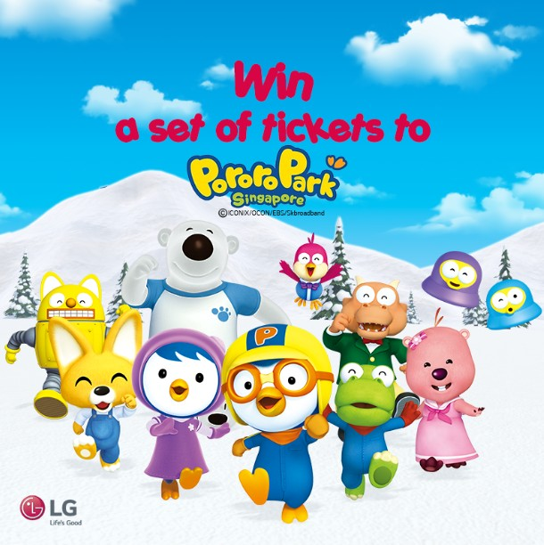 Win Tickets to Pororo and friends await you at Pororo Park Singapore