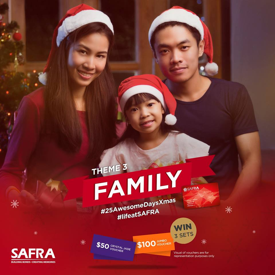 Win a $100 JUMBO and a $50 Crystal Jade voucher at SAFRA Singapore