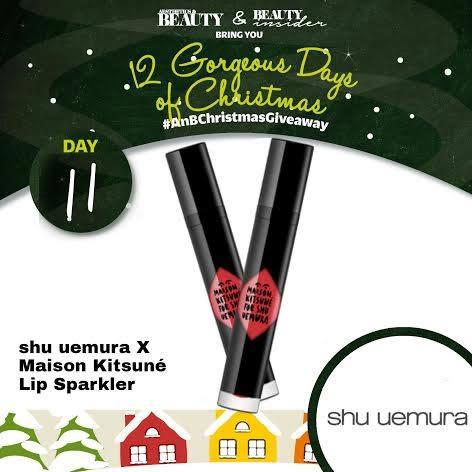 Win the ultimate party lipstick Shu Uemura X Maison Kitsuné You X #FleurShine Lip Sparkler