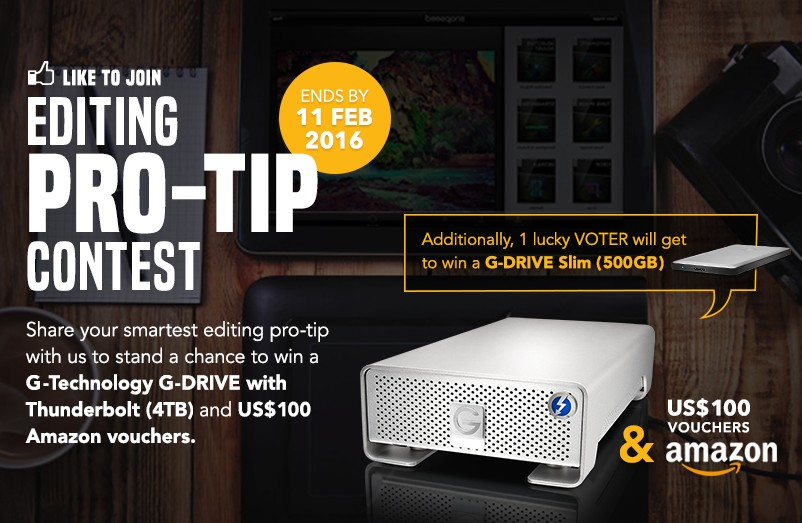 """Editing Pro-Tip"" Contest, Presented by G-Technology"