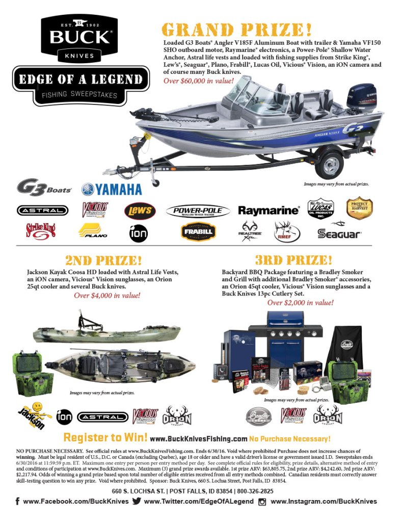 Buck Knives Edge of a Legend Fishing Sweepstakes
