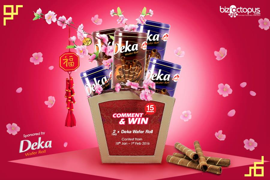 Comment & Win 2 Tins of Deka Wafer Roll at BizOctopus Malaysia
