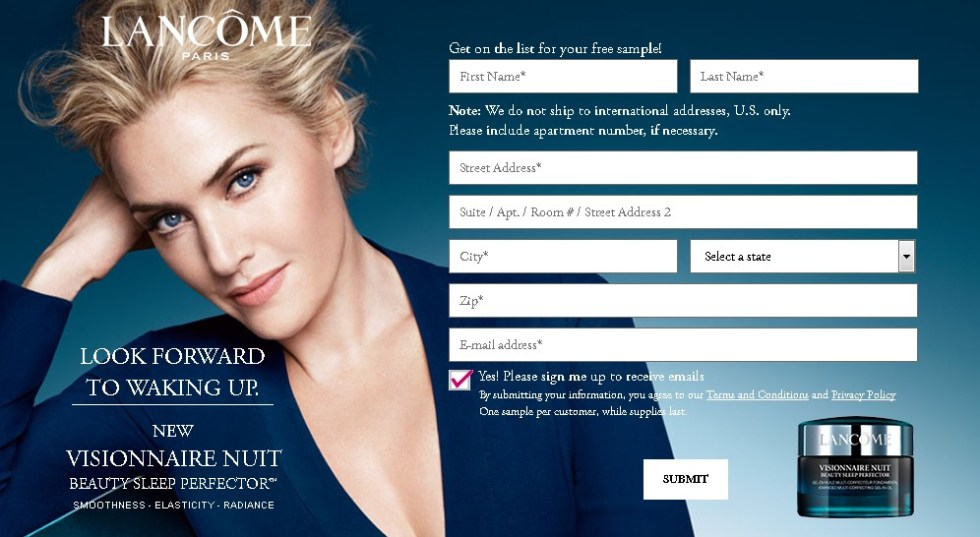 Free New Visionnaire Nuit Beauty Sleep Perfector™ at Lancome