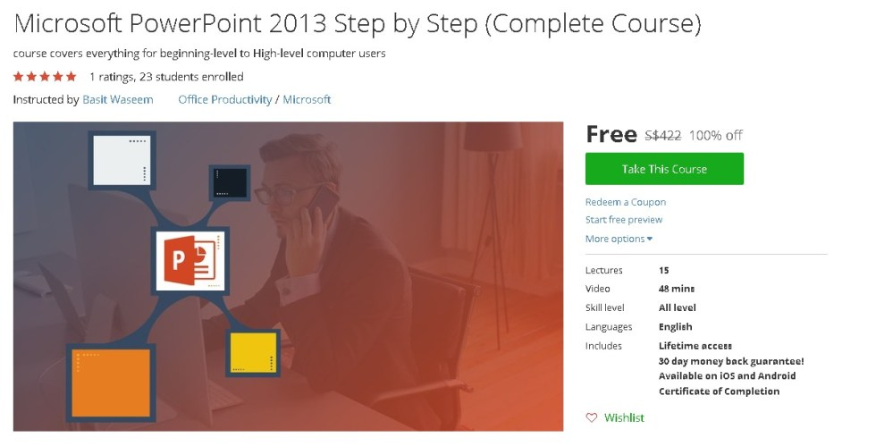 Free Udemy Course on Microsoft PowerPoint 2013 Step by Step (Complete Course)