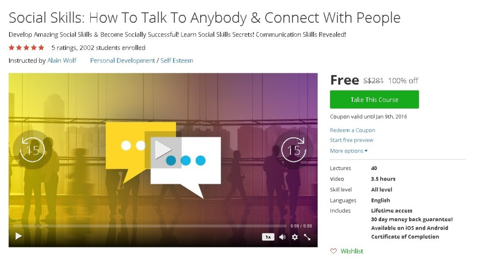 Free Udemy Course on Social Skills How To Talk To Anybody & Connect With People