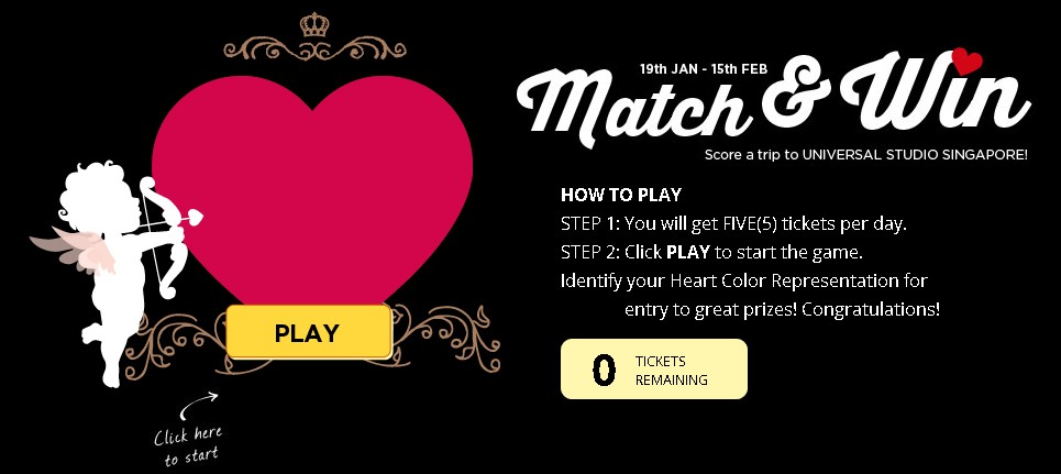 Match & Win at Bello2- Win a trip to Universal Studio Singapore