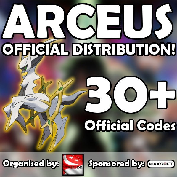 Nintendo 3DS Singapore Giveaway Arceus codes for Pokemon Omega RubyAlpha SapphireXY