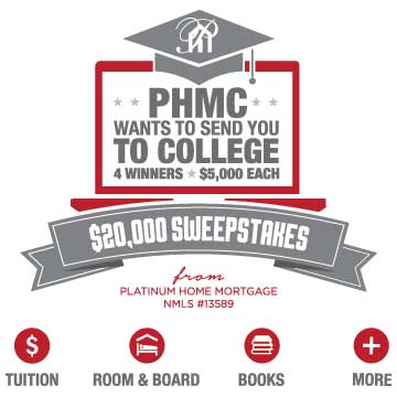 PHMC WANTS TO SEND YOU TO COLLEGE - $20,000 SWEEPSTAKES