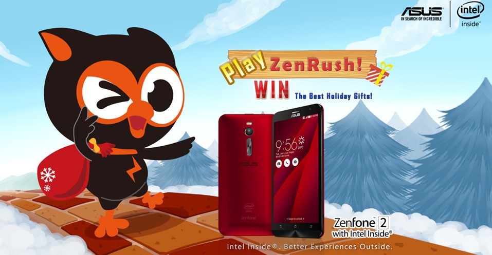 Play ZenRush and stand a chance to win an ASUS ZenFone 2