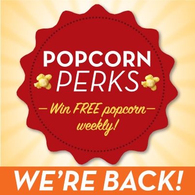 THE POPCORN FACTORY® 2016 POPCORN PERKS WEEKLY SWEEPSTAKES
