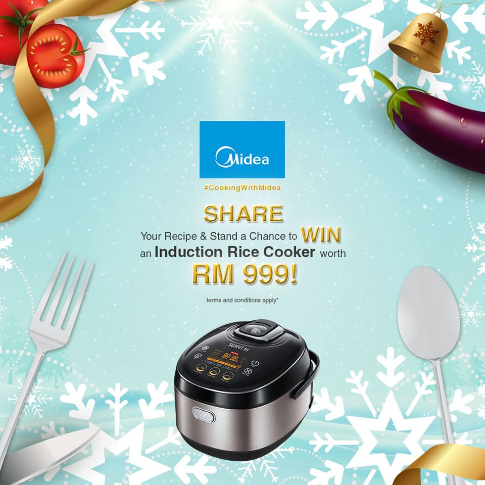 WIN yourself an Induction Rice Cooker worth RM999 at Midea Malaysia