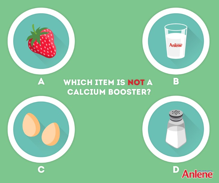 Anlene Singapore #Giveaway Which of the items below is the #OddOneOut