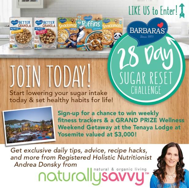 Barbara's 28 Day Sugar Reset Challenge Giveaway